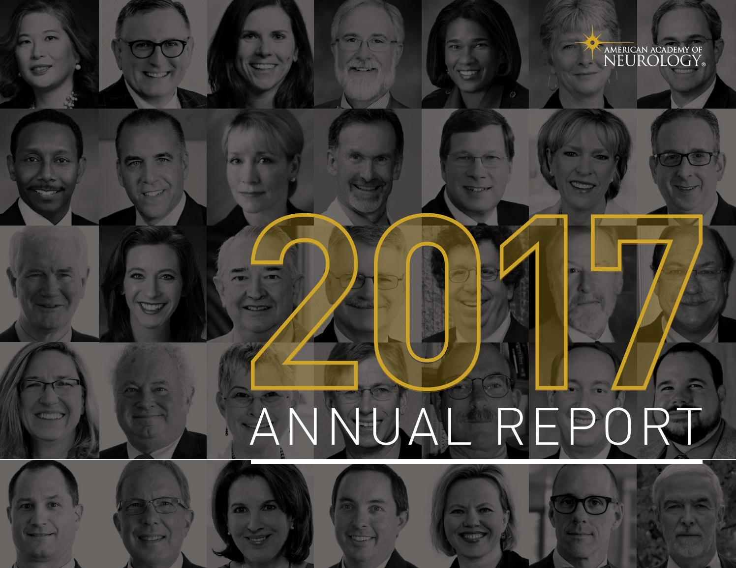 2017 AAN Annual Report by American Academy of Neurology - issuu