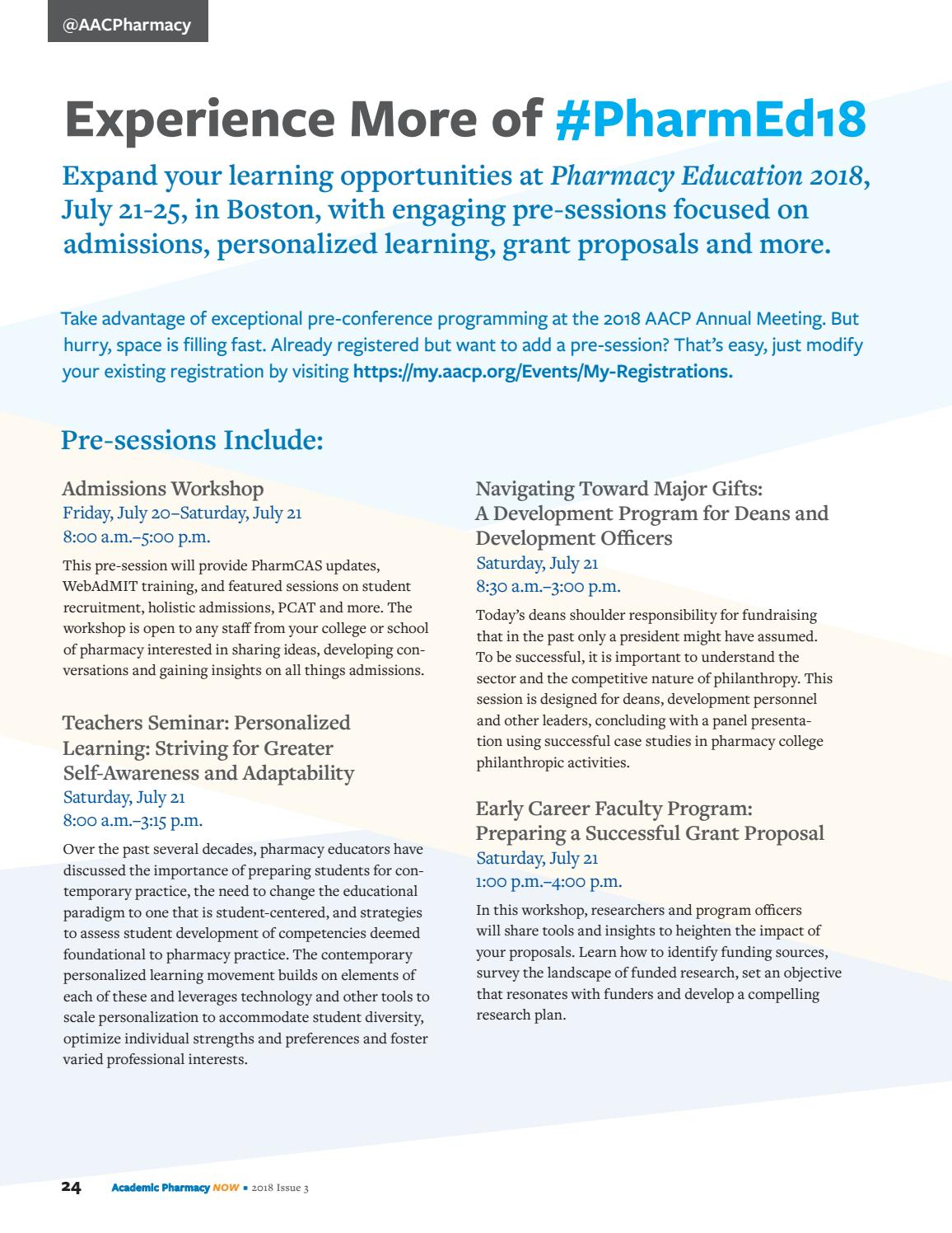 Academic Pharmacy Now: 2018 Issue 3 by AACP - issuu