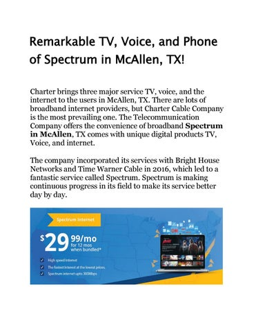 Charter Phone Service >> Remarkable Tv Voice And Phone Of Spectrum In Mcallen Tx