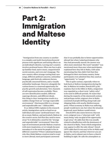 Page 10 of Immigration and Maltese Identity