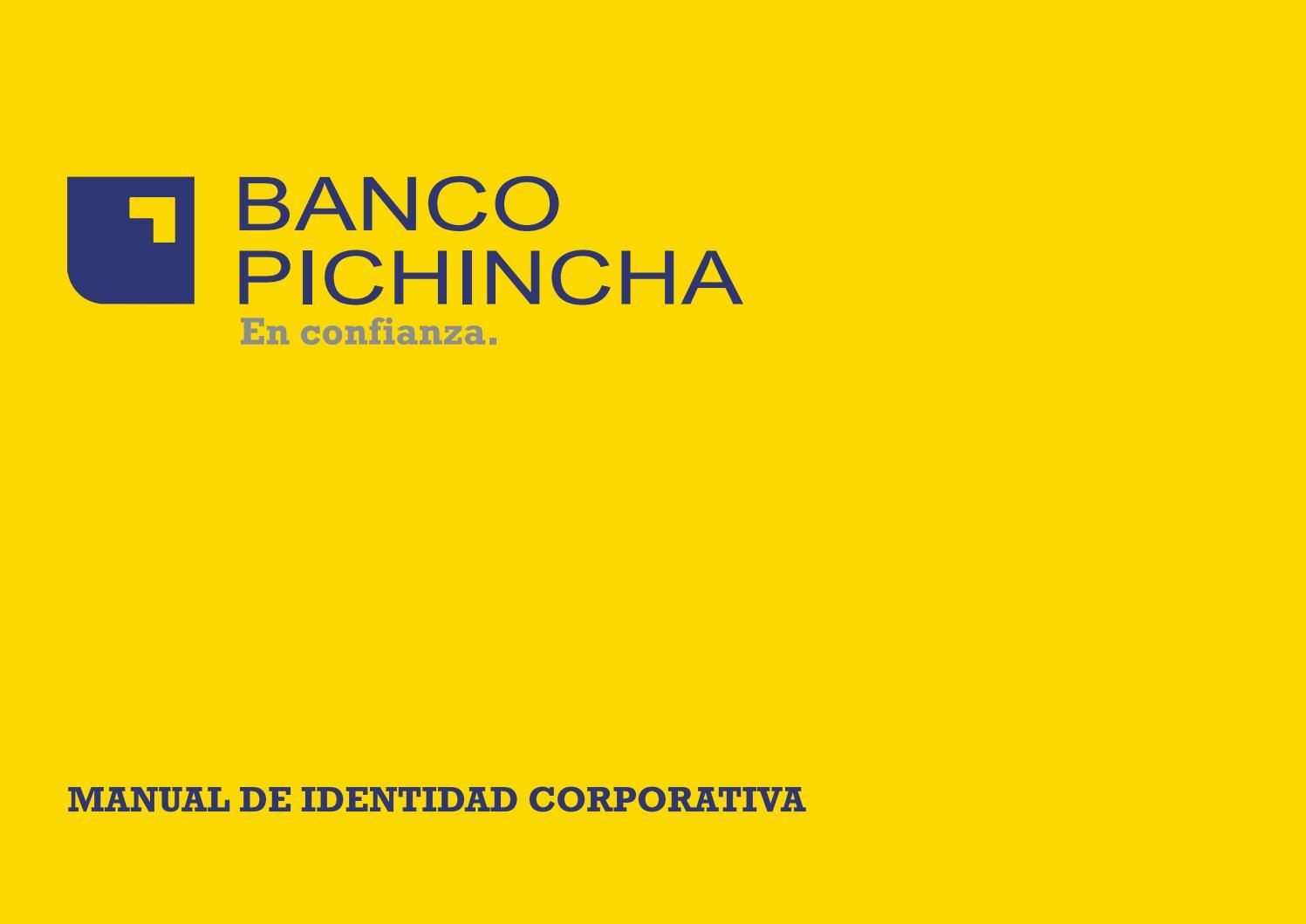 Manual de identidad corporativa (Banco-Pichincha) by Mirko