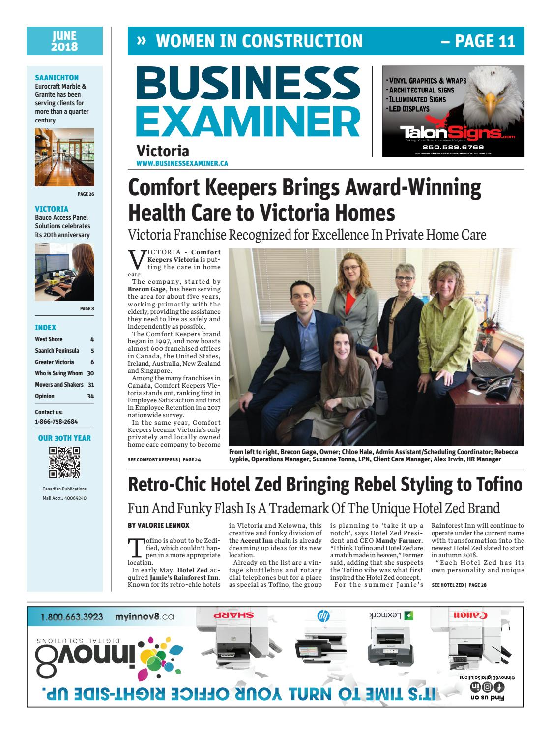 Business Examiner Victoria June 2018 By Media Cascadia Hydrogen Practical Guide To Free Energy Devices Group Issuu