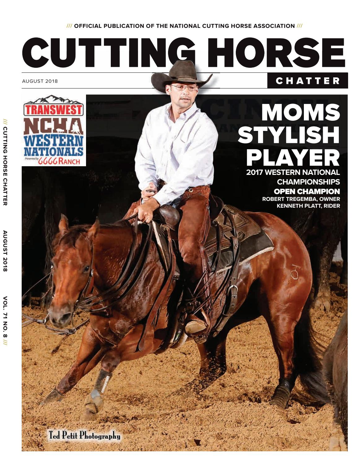 2d459ec123d54f Cutting Horse Chatter August 2018 by Cowboy Publishing Group - issuu