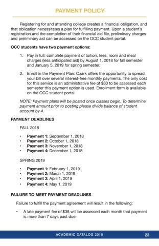 Occ 2018 19 Academic Catalog By Ozark Christian College Issuu
