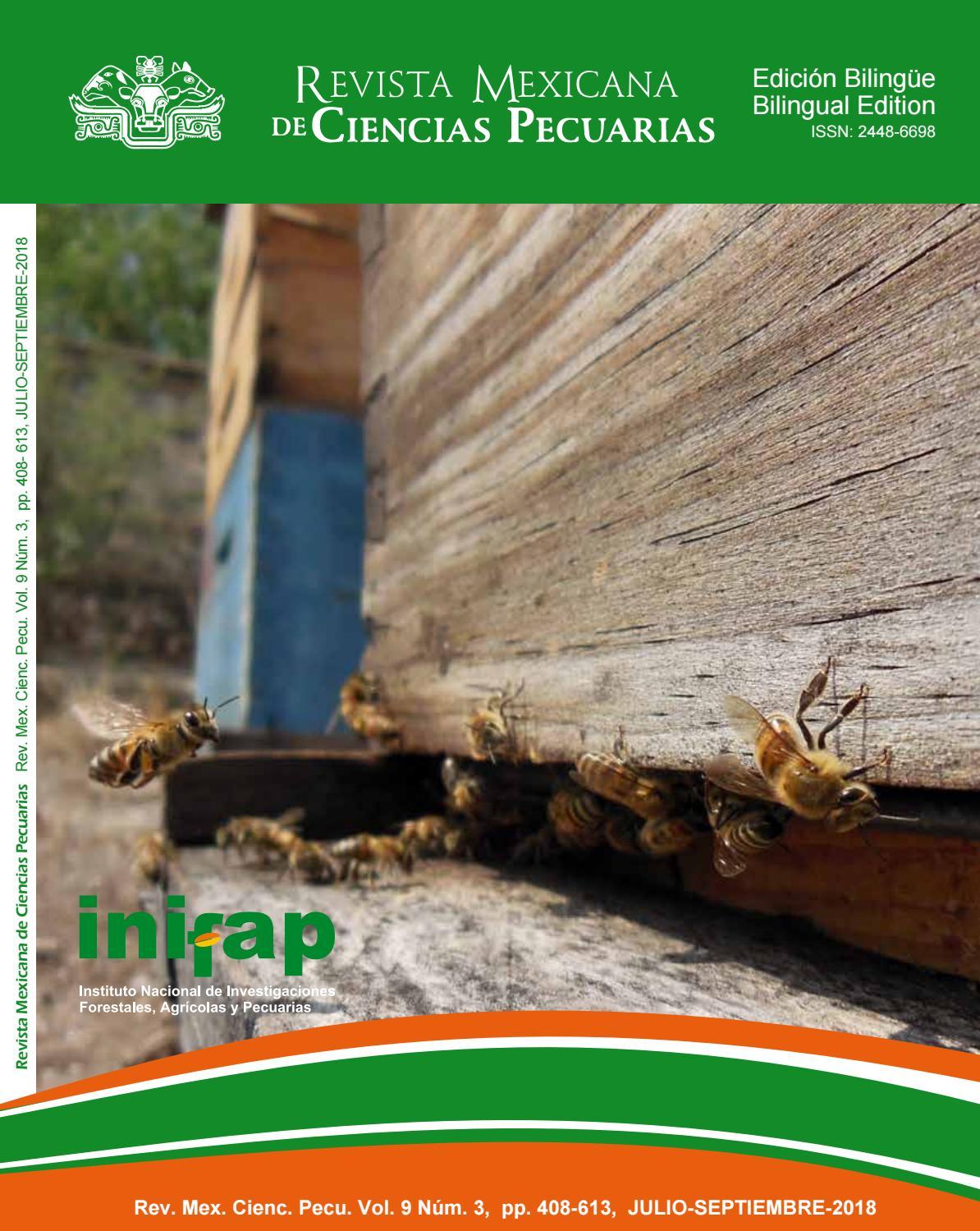 RMCP Vol. 9, NÚM 3, 2018 by Revista Mexicana de Ciencias Pecuarias ...