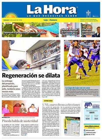 Diario La Hora Loja 14 de Julio 2018 by Diario La Hora Ecuador - issuu a2f063200264c