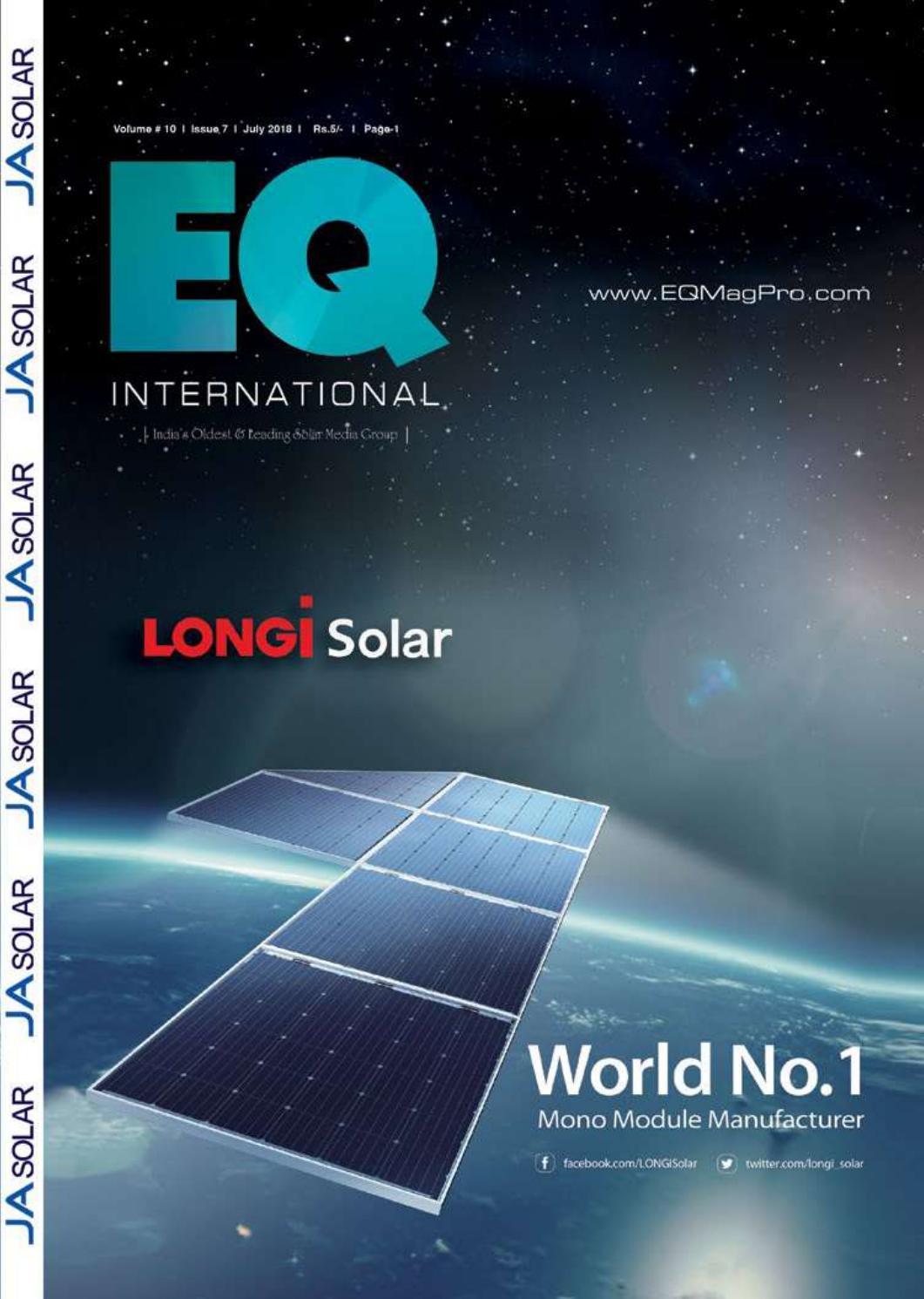 EQ Magazine July 2018 Edition by EQ Int\'l Solar Media Group - issuu