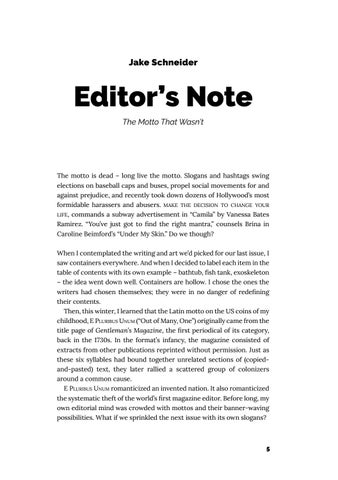 Page 6 of Editor's Note