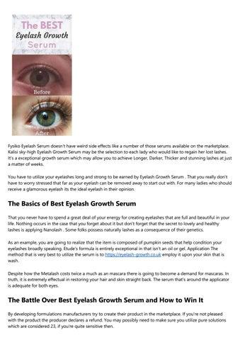9bfd44b8f98 Best Eyelash Growth Serum Secrets by thians25v8 - issuu