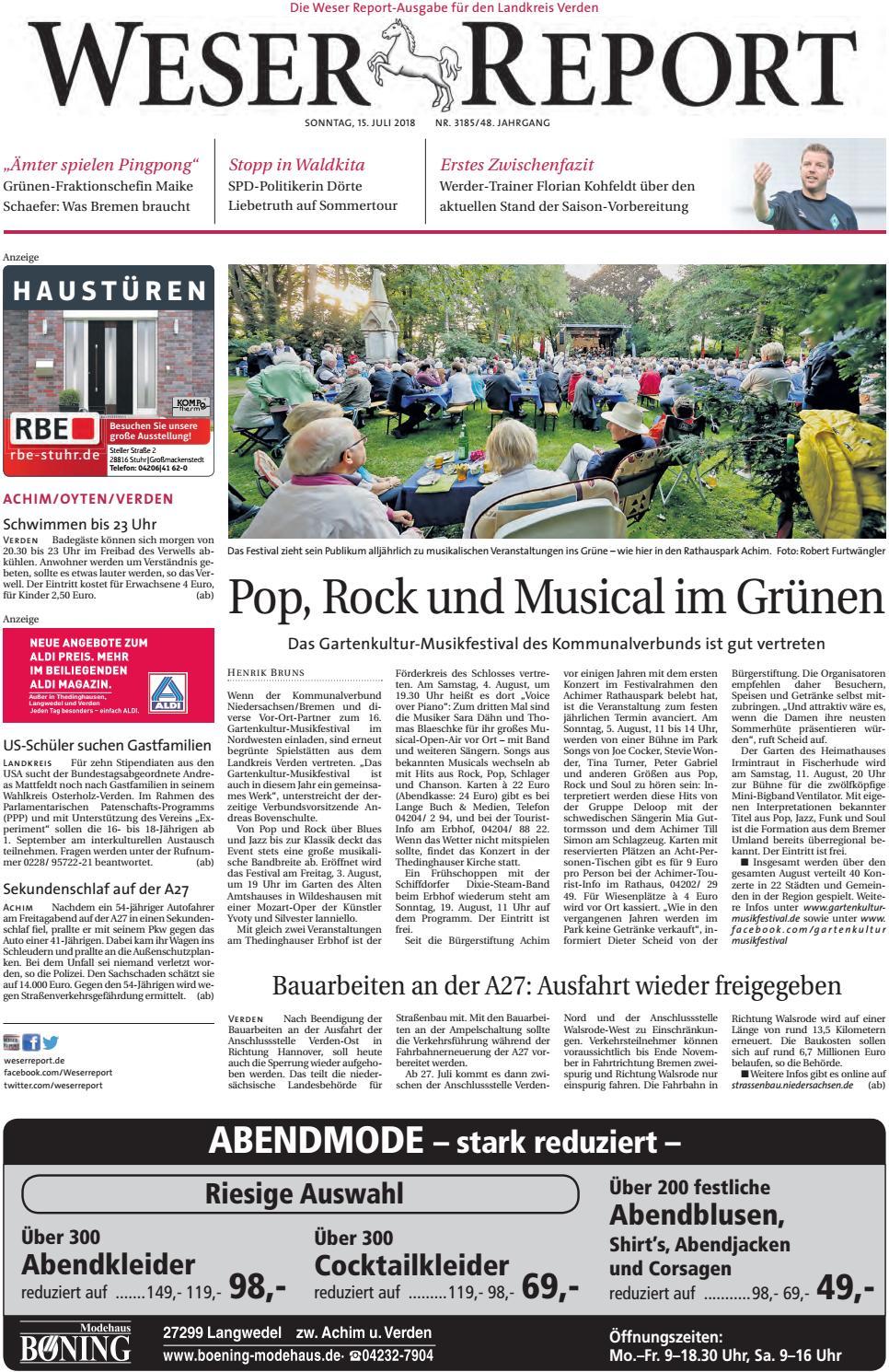 Weser Report - Achim, Oyten, Verden vom 15.07.2018 by KPS ...
