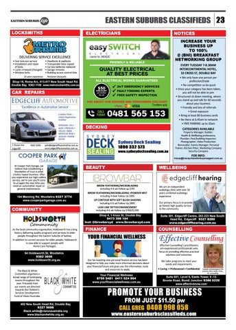 Page 23 of Community & Classifieds Section