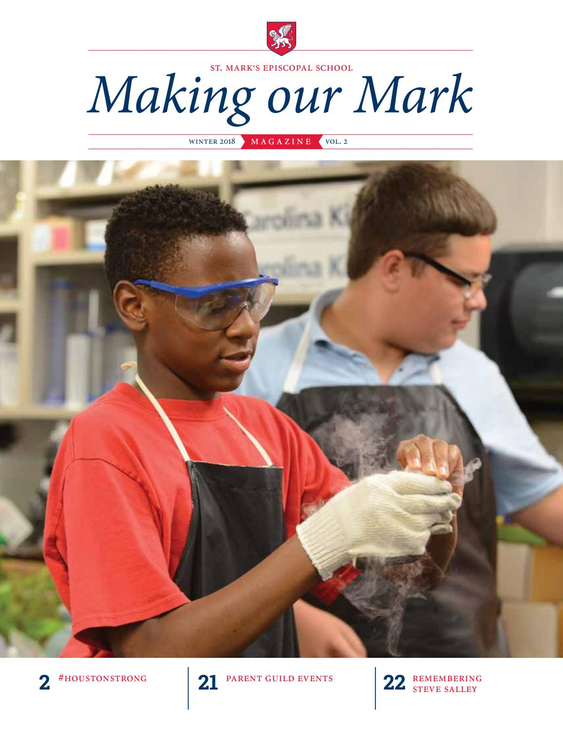 Making Our Mark - Winter 2018 by St  Mark's Episcopal School