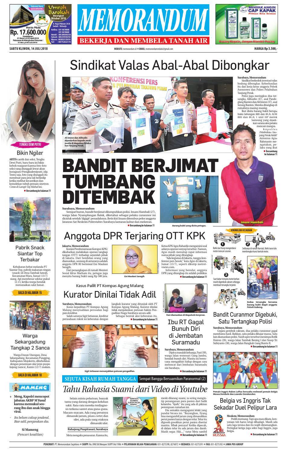 Memorandum Edisi 14 Juli 2018 By Issuu Snack Gayem Pangsit Bantal Imut Bdg