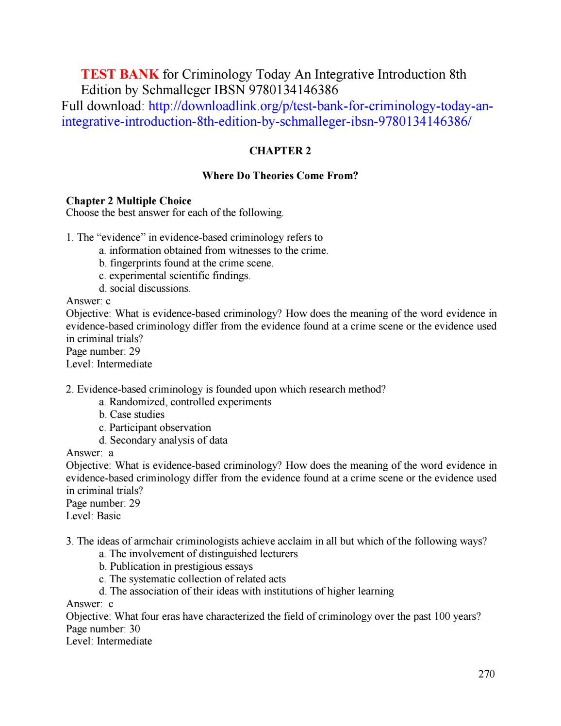 Criminology Essays What Is Crime Orthodontist Working Conditions