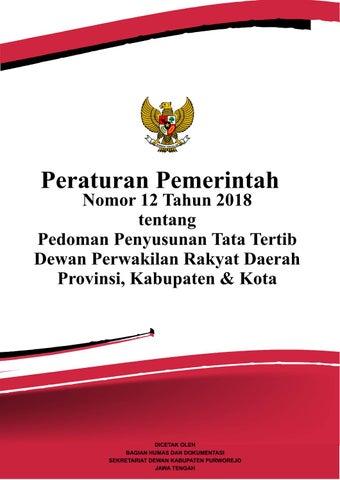 Hasil gambar untuk foto tata cara PP No 12 Tahun 2018 tentang Pedoman Penyusunan Tata Tertib DPRD
