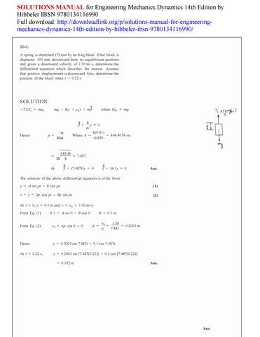 Dynamics hibbeler homework solution order cheap persuasive essay on presidential elections