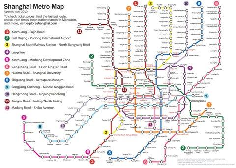 Shanghai Railway Station Subway Map.2018 Shanghai Subway Map By Sidney Yu Issuu