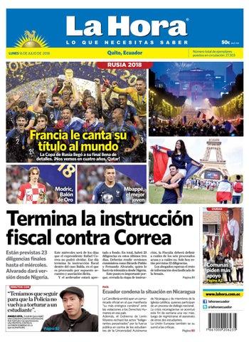 Quito 16 de julio del 2018 by Diario La Hora Ecuador - issuu ce6d2e037c5
