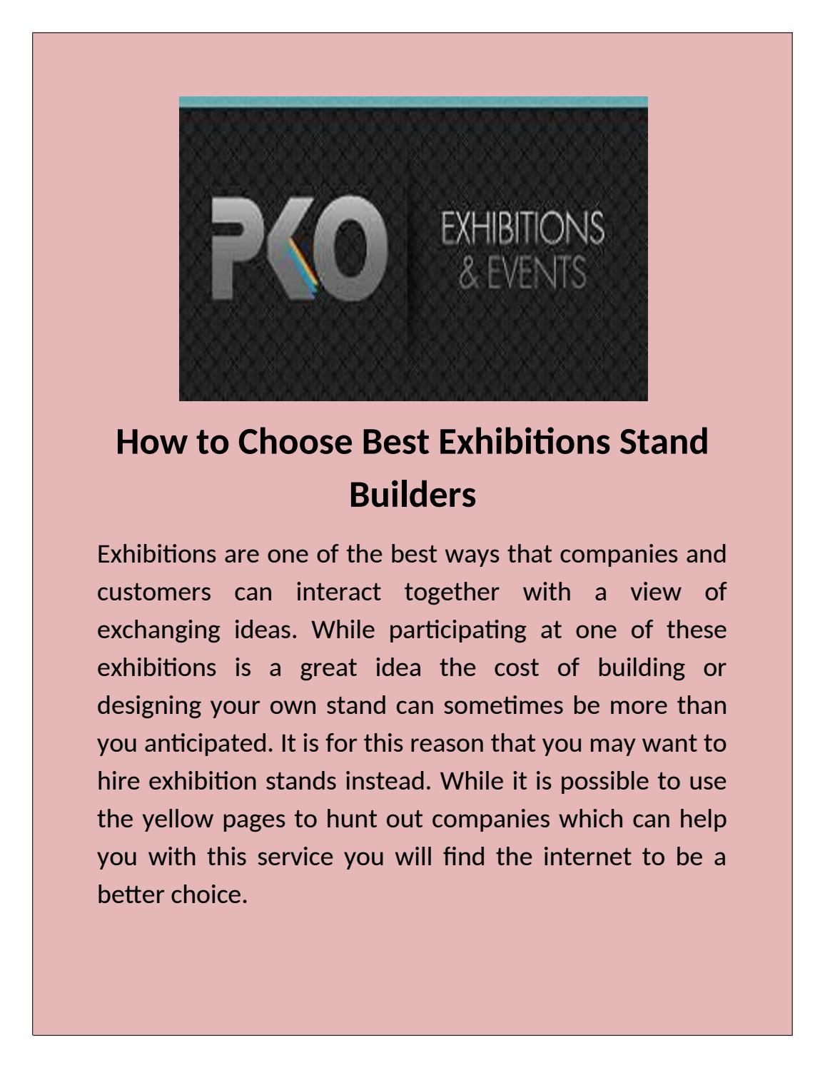Pko Exhibition Stand Designers And Builders : Best exhibition booth construction in dubai by pko uae issuu