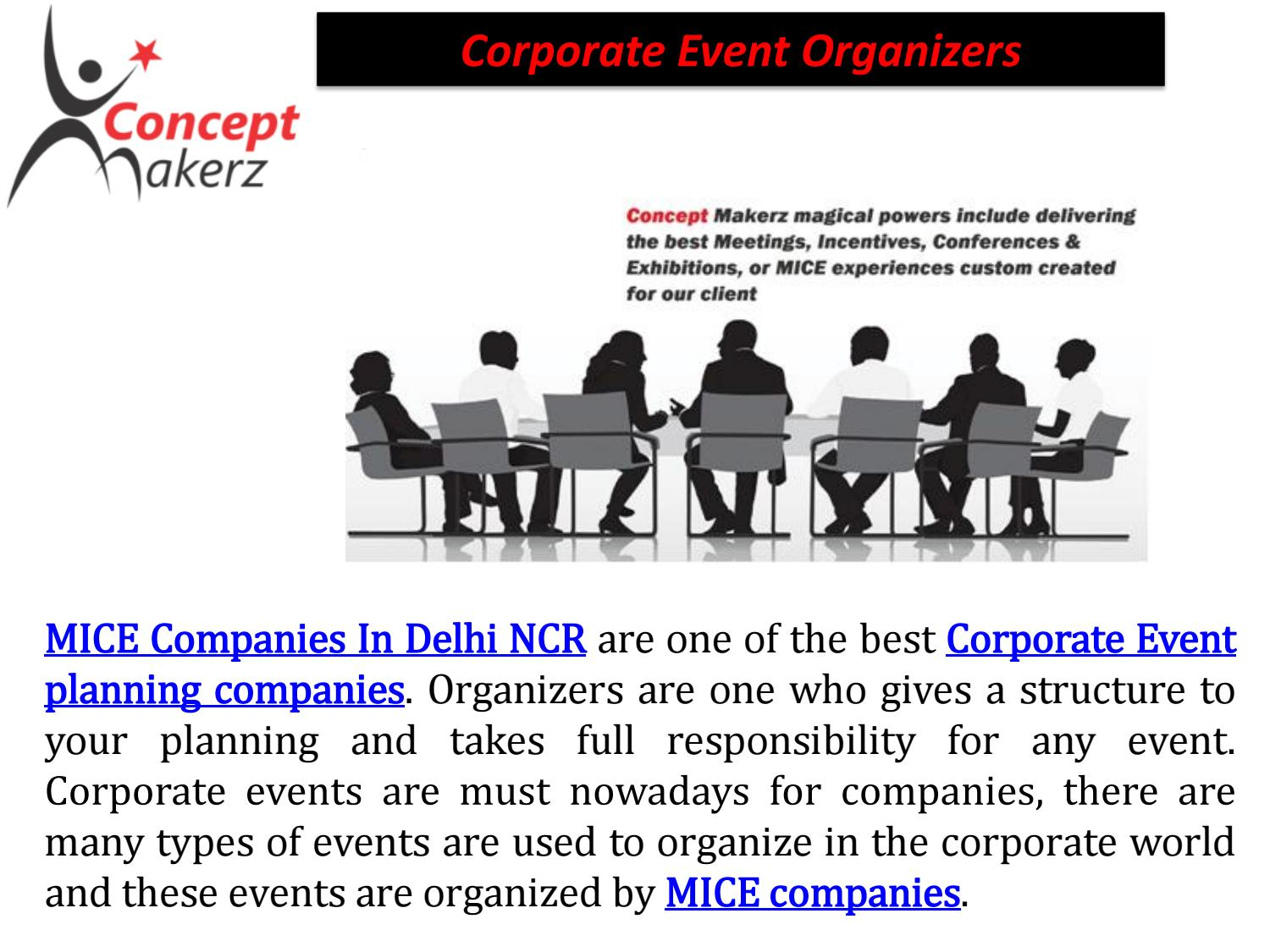 Corporate Event Companies Concept Makerz By Concept Makerz Issuu - Type-of-corporate-events