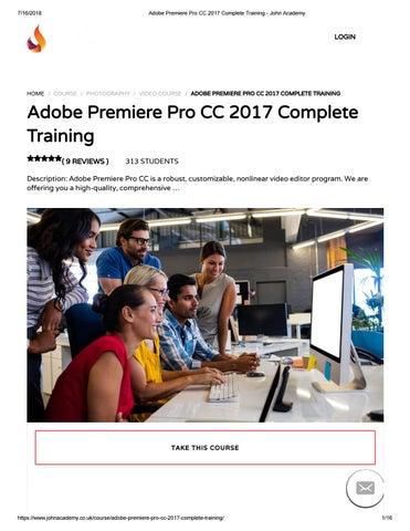 Adobe Premiere Pro CC 2017 Complete Training - John Academy