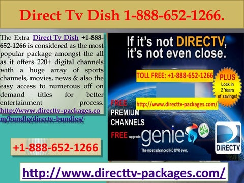 The available package options include: Direct Tv Dish +1-888