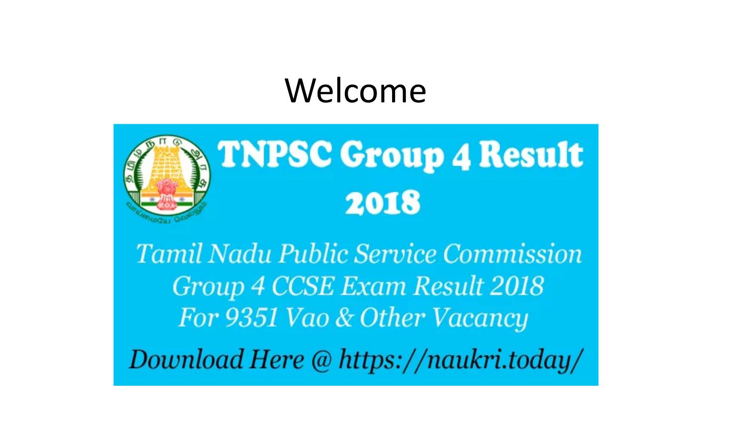 TNPSC Group 4 Result 2018 | TNPSC Group IV Exam Result Download Here