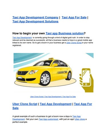 Taxi App Development Company | Taxi App For Sale | Taxi App