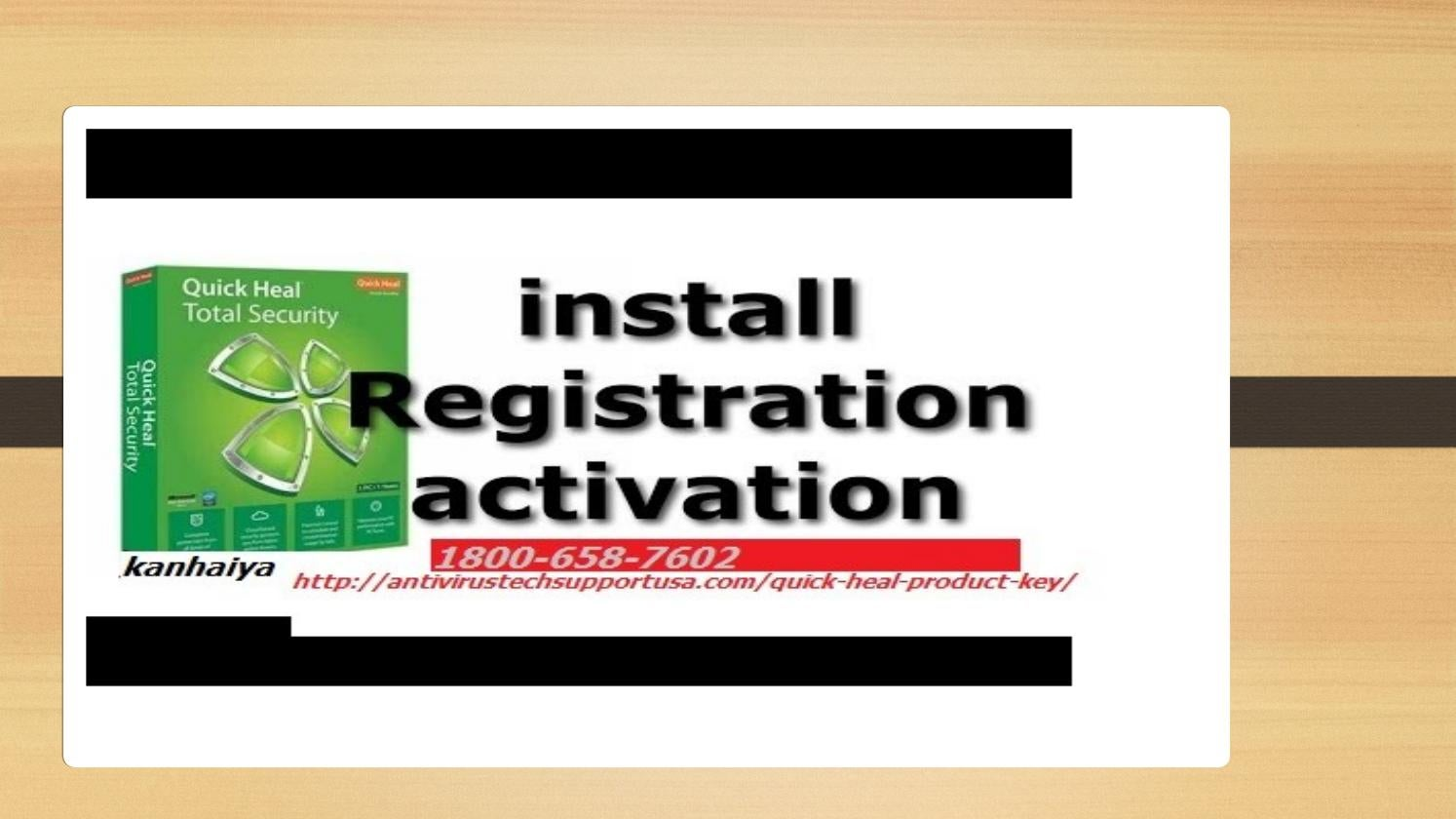 register quick heal total security product key