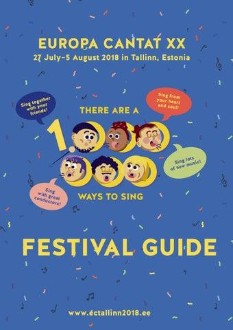 Festival Guide Europa Cantat Xx Tallinn By Europa Cantat Xx Tallinn