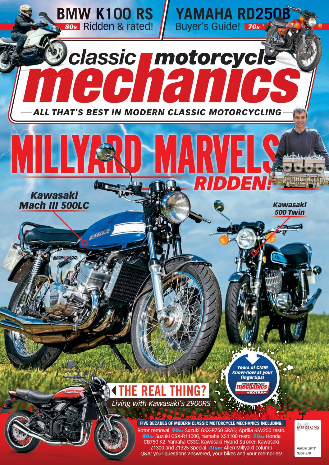 Classic Motorcycle Mechanics August 2018 by Mortons Media