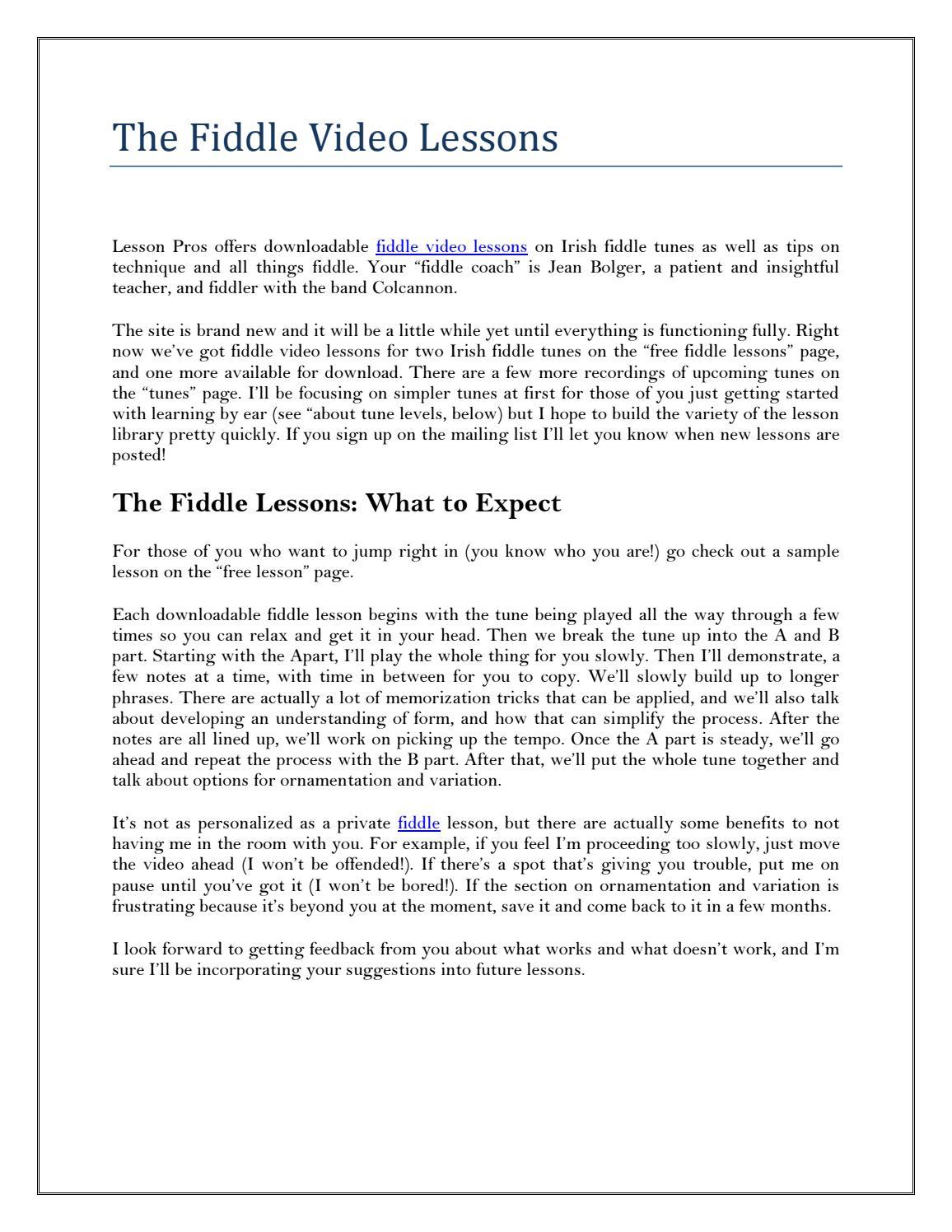 Irish Fiddle Lesson The M – Meta Morphoz