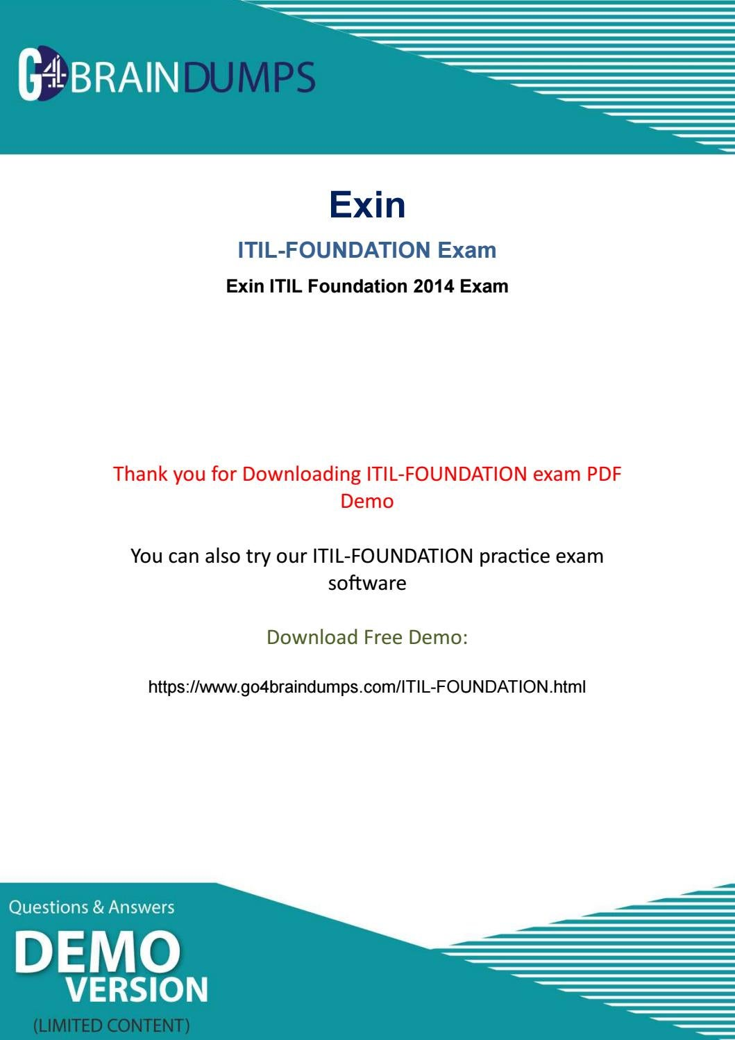 Go4braindumps Valid Itil Foundation Exam Braindumps For Best Result