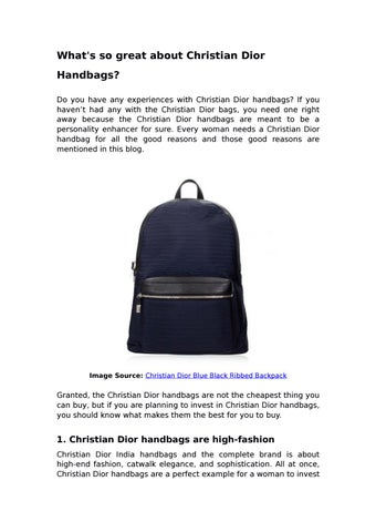 ce26f5ed56e What's so great about Christian Dior Handbags? by Darveys - issuu