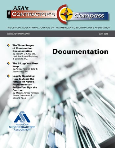 The Contractor's Compass July 2018 by American Subcontractors
