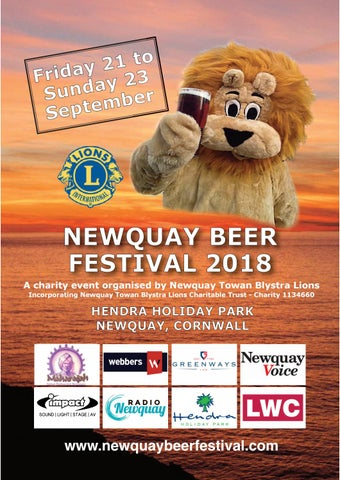 Newquay Beer Festival 2018 Programme By Newquaytblions Issuu