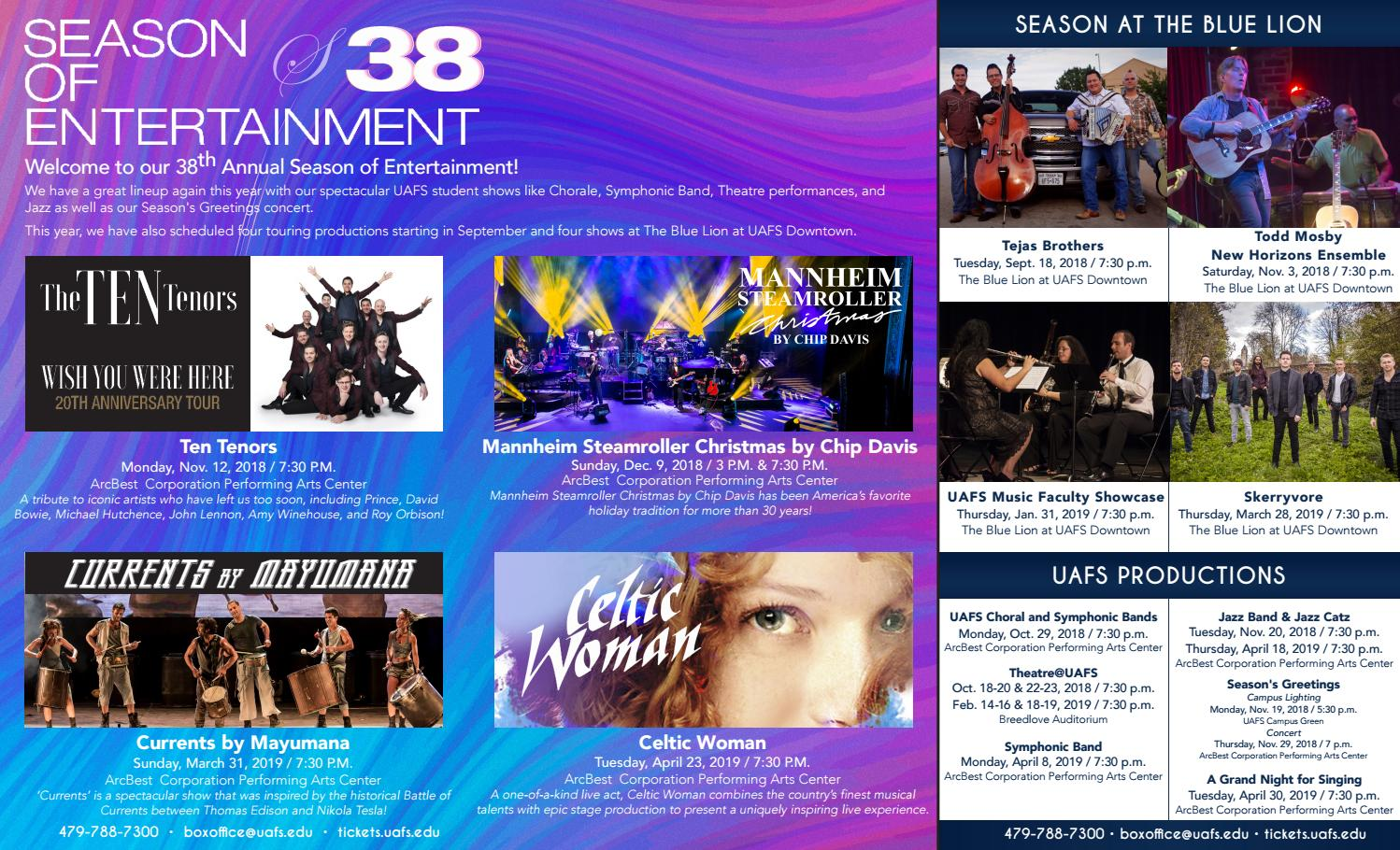 Season of Entertainment by University of Arkansas - Fort Smith - issuu