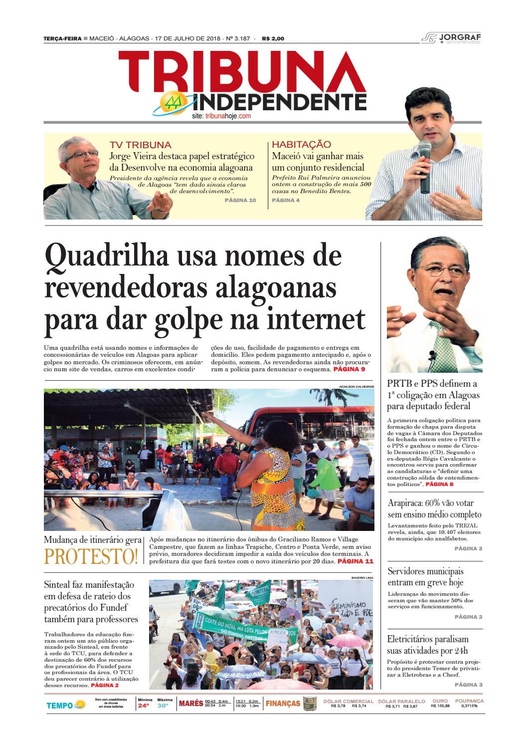 41a3f68be Edição número 3187 - 17 de julho de 2018 by Tribuna Hoje - issuu