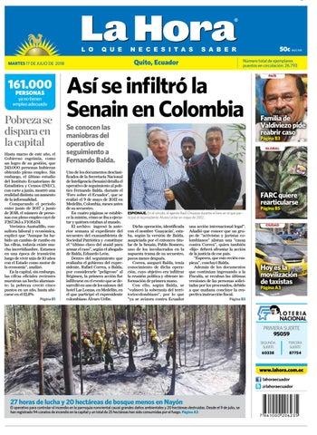 Quito 17 de julio de 2018 by Diario La Hora Ecuador - issuu 9c64ced05d2