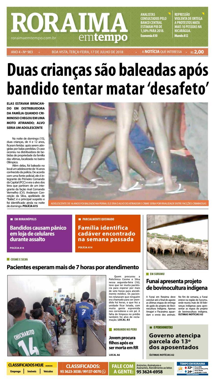Jornal Roraima Em Tempo Edicao 983 By Roraimaemtempo Issuu