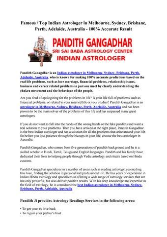Famous / Top Indian Astrologer in Melbourne, Sydney, Brisbane, Perth