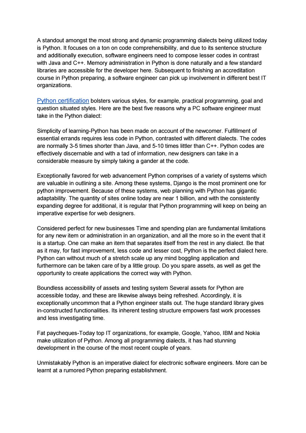 Python certification by nasratshoevan - issuu