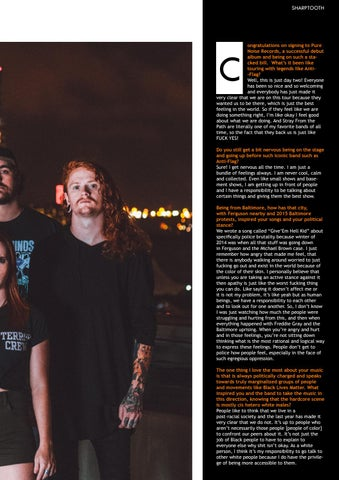 Page 21 of Our Interview With Lauren Kashan of Sharptooth