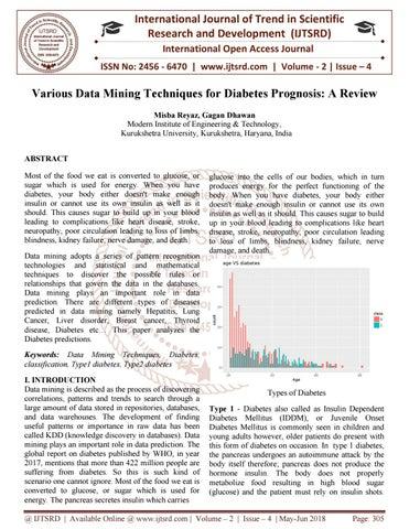Various Data Mining Techniques for Diabetes Prognosis: A