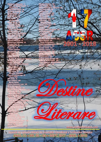 Destine Literare March 2018 Literary Destinies By Alexandru
