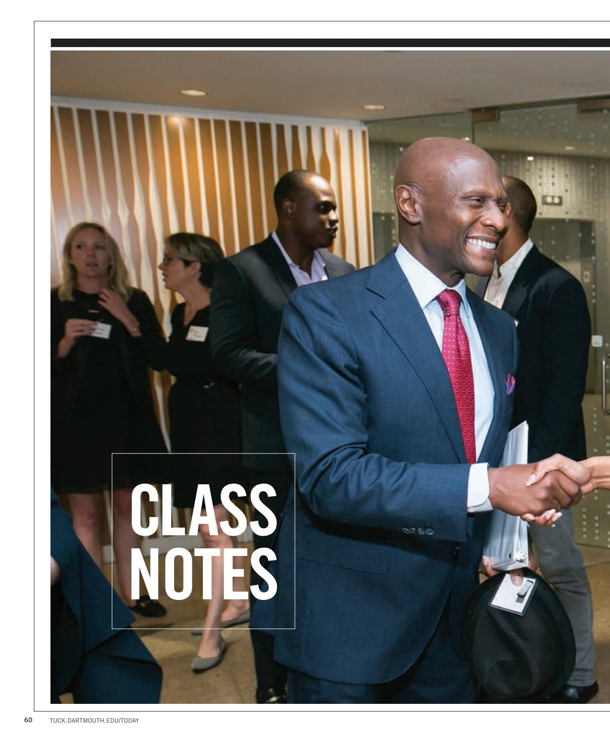 f681c3a5890a Class Notes – Summer 2018 by Tuck School of Business at Dartmouth - issuu