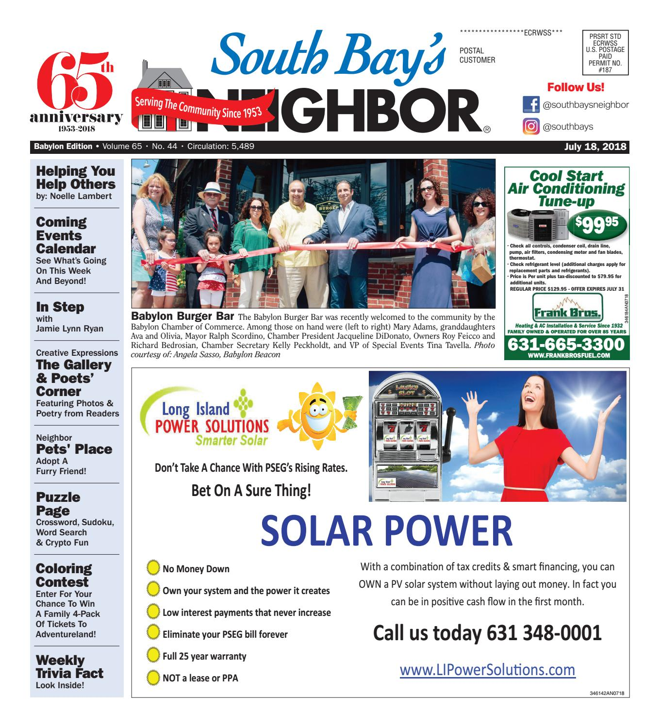 July 18th, 2018 Babylon by South Bay's Neighbor Newspapers