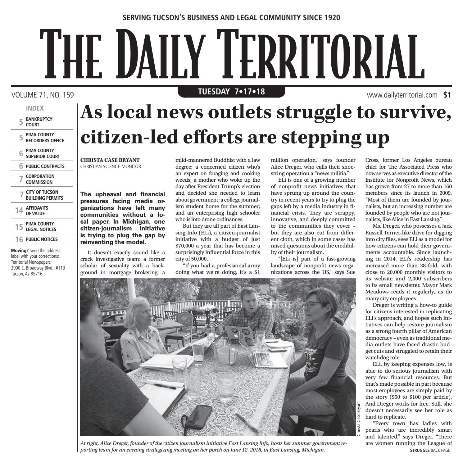 The Daily Territorial 071718