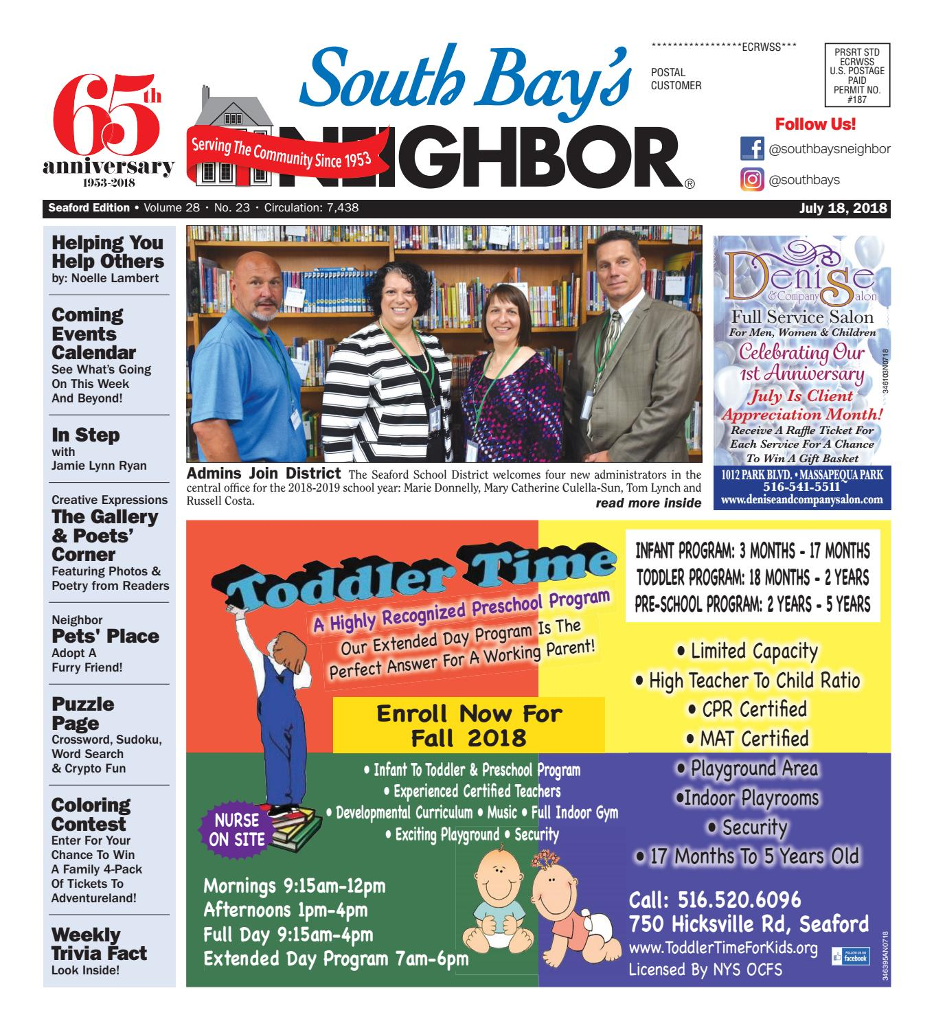 July 18th 2018 Seaford By South Bays Neighbor Newspapers