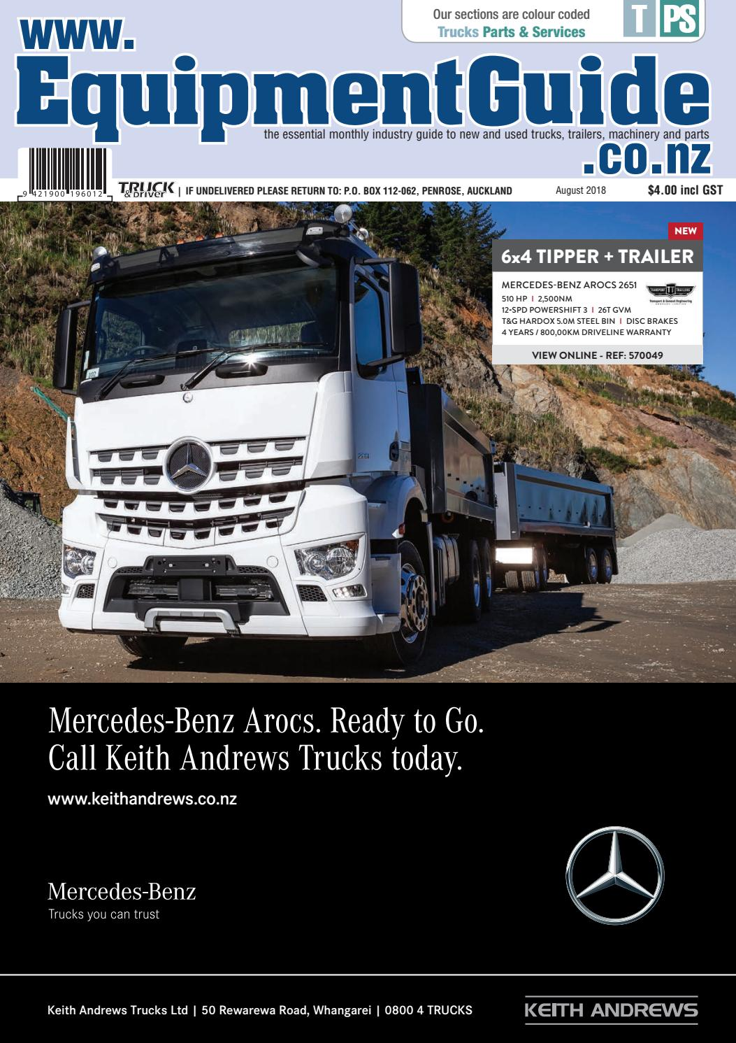 Equipment Guide August 2018 by NZ Truck & Driver - issuu